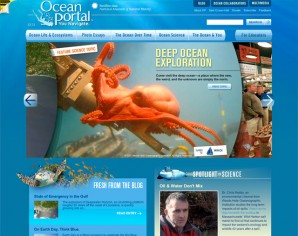 The homepage rotator for The Ocean Portal