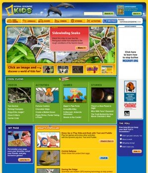 National Geographic Kids home page