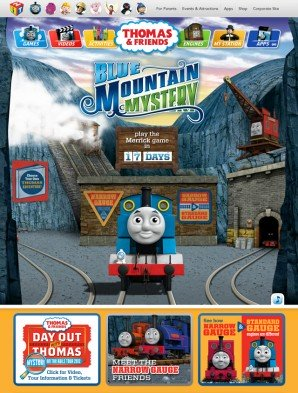 Destination page for the Blue Mountain Mystery