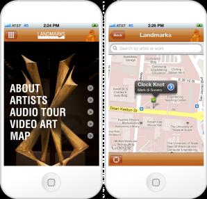 University of Texas Landmarks mobile app