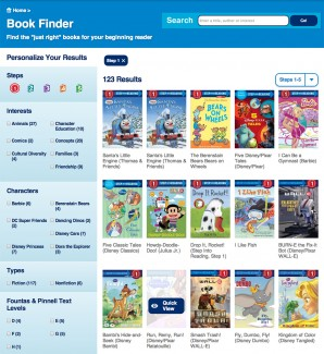 Step Into Reading Book Finder