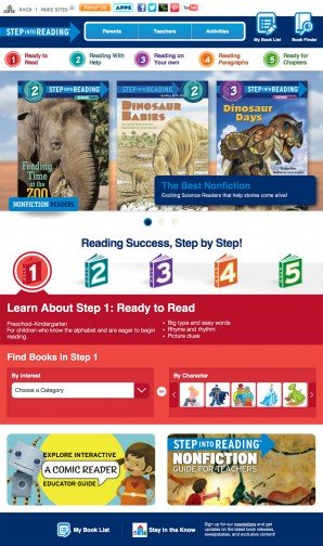 Step Into Reading Homepage
