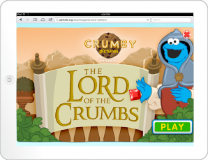 The Lord of the Crumbs Title Screen