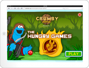 The Hungry Games Title Screen