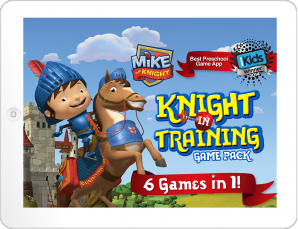 Mike the Knight Mobile App Landing Page