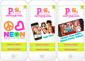 P.S. for Aéropostale Holiday App Main Screen