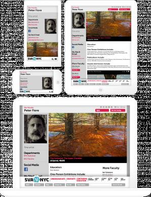 The BFA Graphic Design Landing Page