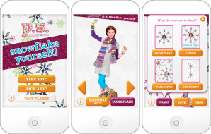 P.S. Aéropostale Snowflake Yourself Mobile App