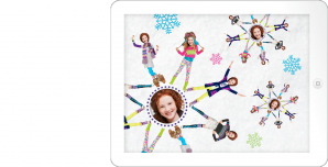 P.S. Aéropostale Snowflake Yourself Animated Snowflakes