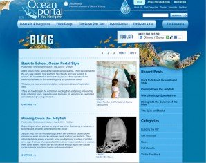 The Ocean Portal Blog landing page