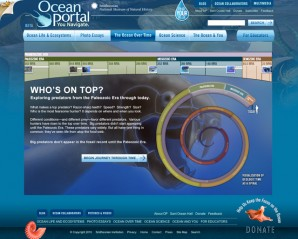The Ocean Over Time interactive timeline