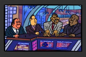 Scene of the ESPN Sports Casters for Sunday NFL Countdown