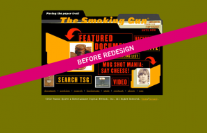Example of The Smoking Gun site before the FG redesign