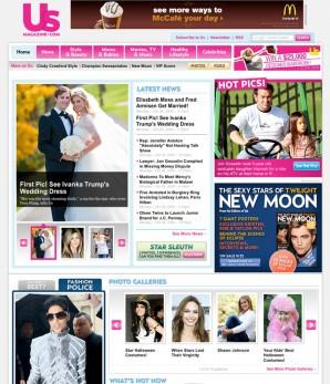 Landing Page fo Us Magazine