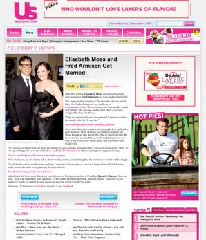 The Celebrity News article page