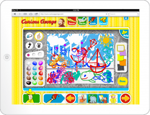 Curious George: Finger-paint with George Game Screen
