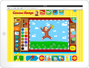 Curious George: George's Paintbox Game Screen