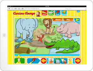 Curious George: Animal Dance Party Game Screen