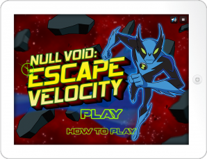 Ben 10's Null Void: Escape Velocity Game for the Cartoon Network Mobile App
