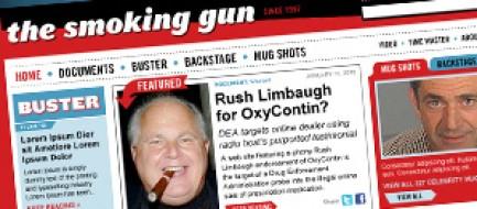 Detail of the The Smoking Gun landing page