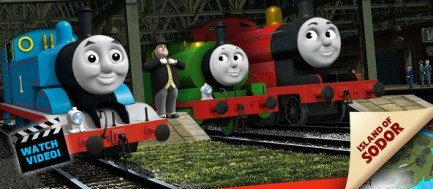 Thomas, The Fat Controller, Percy, and James