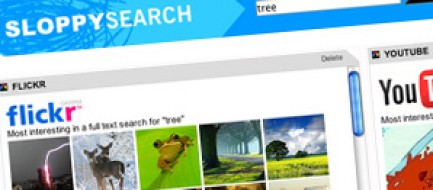 Thumbnail of the Sloppy Search results page