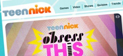 Homepage for TeenNick